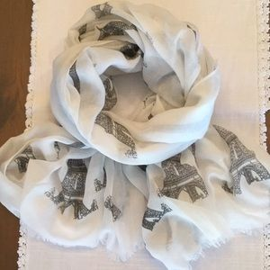 Eiffel Tower graphic scarf